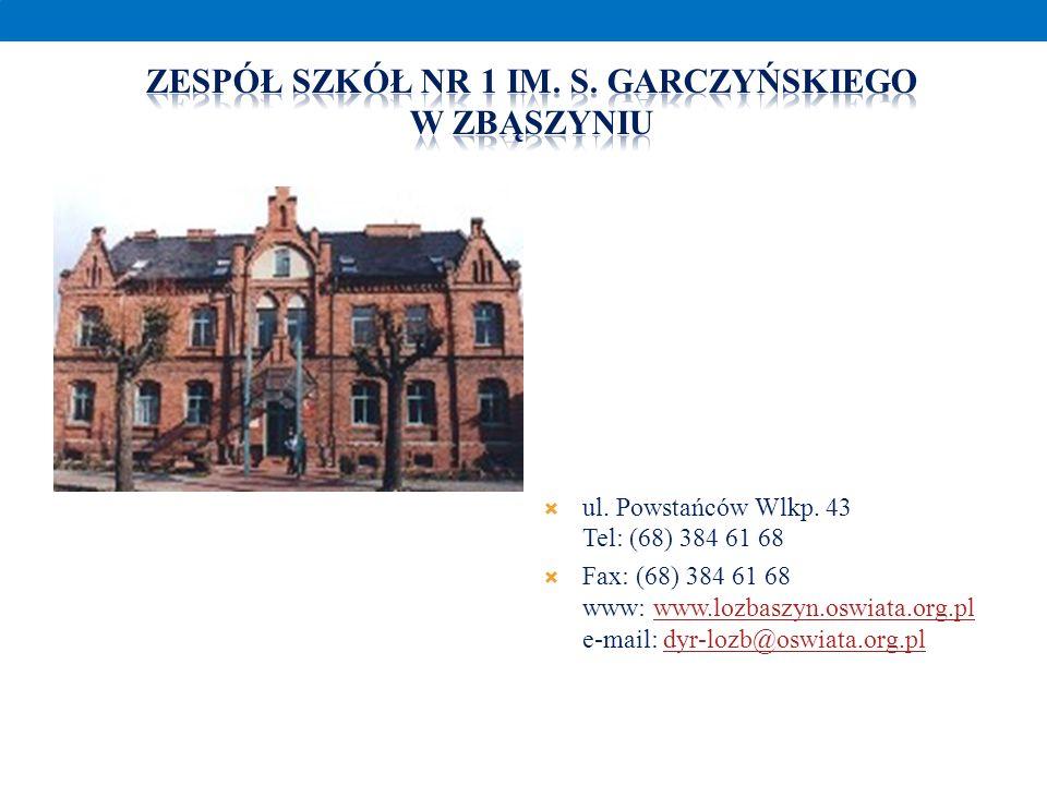 ul. Powstańców Wlkp. 43 Tel: (68) 384 61 68 Fax: (68) 384 61 68 www: www.lozbaszyn.oswiata.org.pl e-mail: dyr-lozb@oswiata.org.plwww.lozbaszyn.oswiata