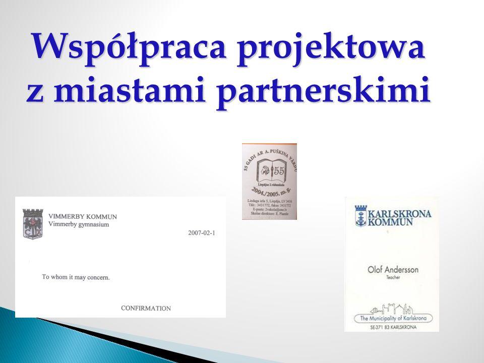 Współpraca projektowa z miastami partnerskimi