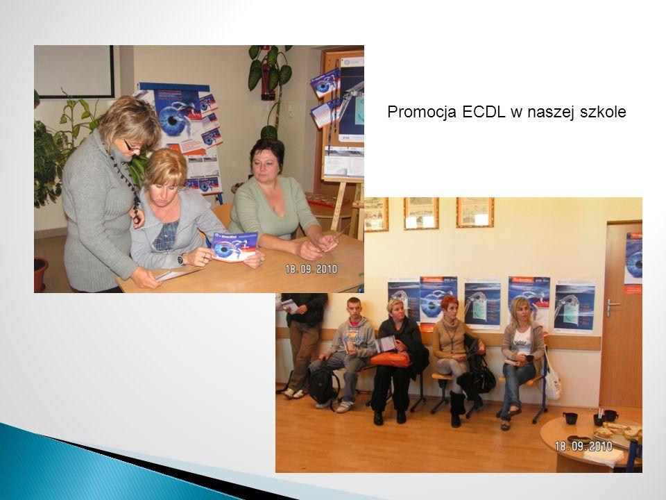 Promocja ECDL w naszej szkole