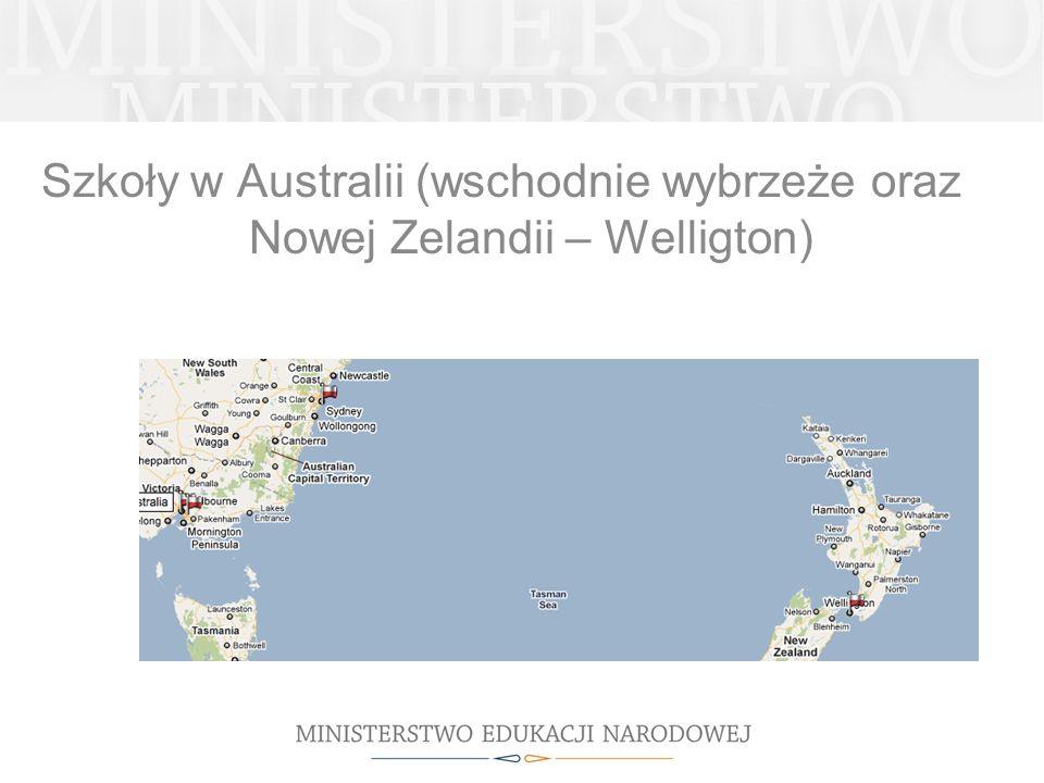 Szkoły w Australii (wschodnie wybrzeże oraz Nowej Zelandii – Welligton)