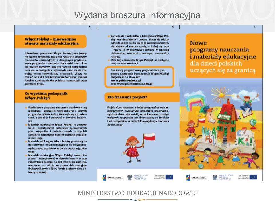 Wydana broszura informacyjna
