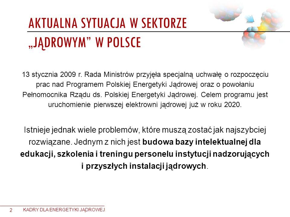 13 stycznia 2009 r. Rada Ministrów przyjęła specjalną uchwałę o rozpoczęciu prac nad Programem Polskiej Energetyki Jądrowej oraz o powołaniu Pełnomocn