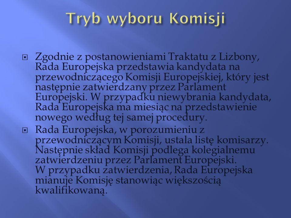 Zgodnie z postanowieniami Traktatu z Lizbony, Rada Europejska przedstawia kandydata na przewodniczącego Komisji Europejskiej, który jest następnie zat