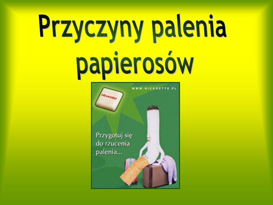 Słowniczek Palacza.Nikotyna Związek uzależniający.