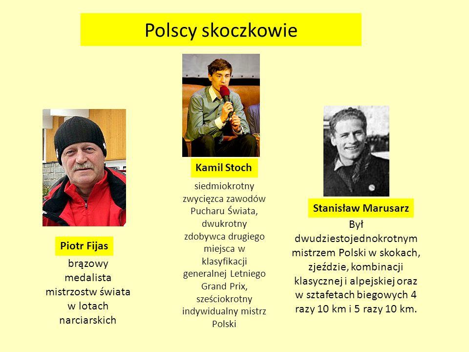Polscy skoczkowie Piotr Fijas brązowy medalista mistrzostw świata w lotach narciarskich Był dwudziestojednokrotnym mistrzem Polski w skokach, zjeździe
