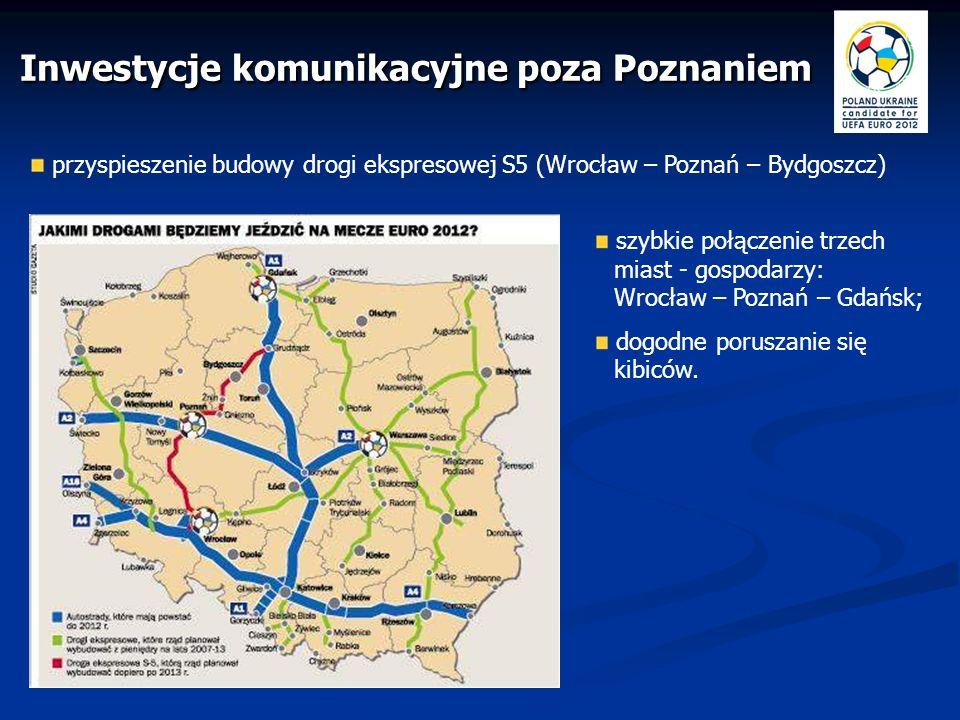 modernizacja dróg łączących Poznań z centrami treningowymi, w tym zwłaszcza z Grodziskiem Wlkp.