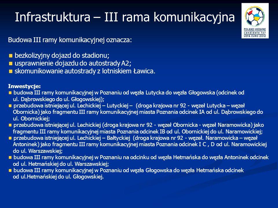 Rozbudowa infrastruktury komunikacyjnej do 2012 roku w Poznaniu Infrastruktura – komunikacja rozbudowa i modernizacja kluczowych węzłów komunikacyjnych w mieście: przebudowa ciągu ulic Polska – Bułgarska – etap II – ul.