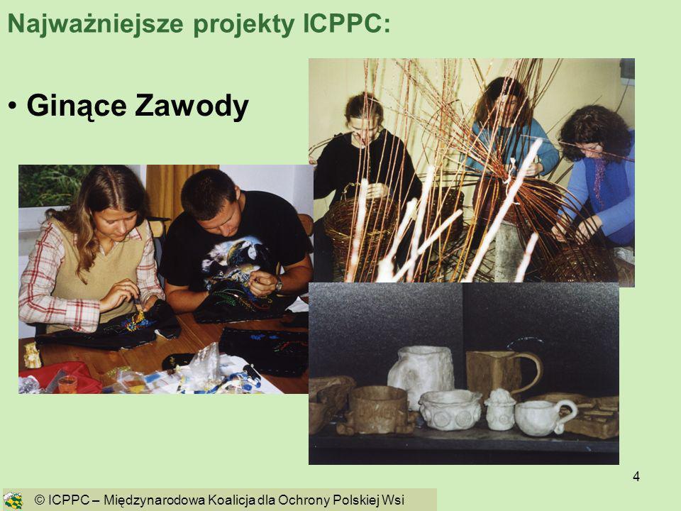 4 Ginące Zawody © ICPPC – Międzynarodowa Koalicja dla Ochrony Polskiej Wsi Najważniejsze projekty ICPPC: