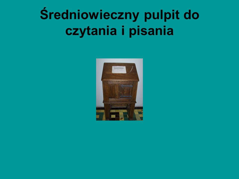 Średniowieczny pulpit do czytania i pisania