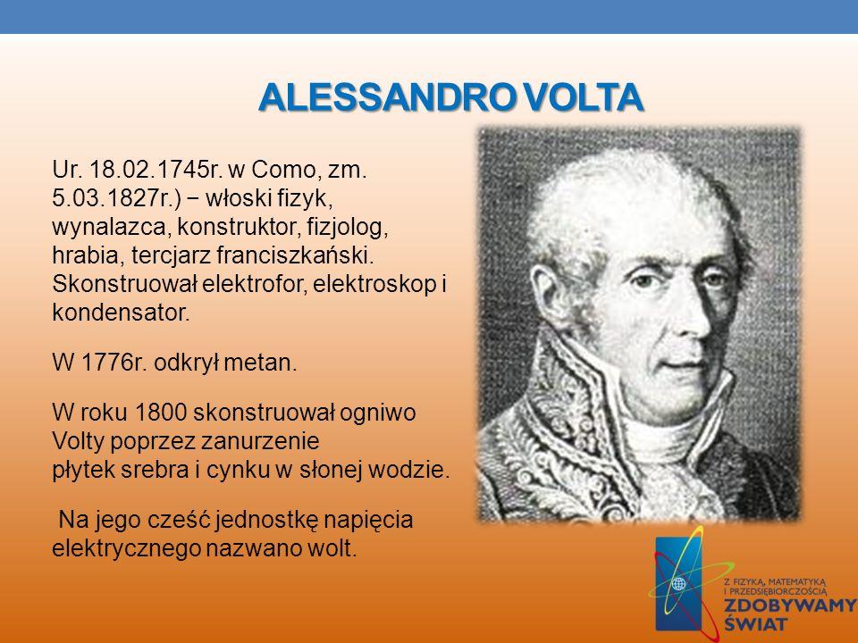 LUIGI GALVANI Ur. 9.09.1737r. w Bolonii, zm. 4.12.1798r.) włoski fizyk, lekarz, fizjolog, tercjarz franciszkański. Odkrył istnienie zjawisk elektryczn