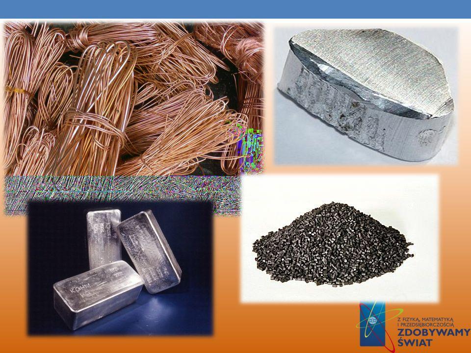PRZEWODNIKI Jest to substancja, która dobrze przewodzi prąd elektryczny, a przewodzenie prądu ma charakter elektronowy. Atomy przewodnika tworzą wiąza