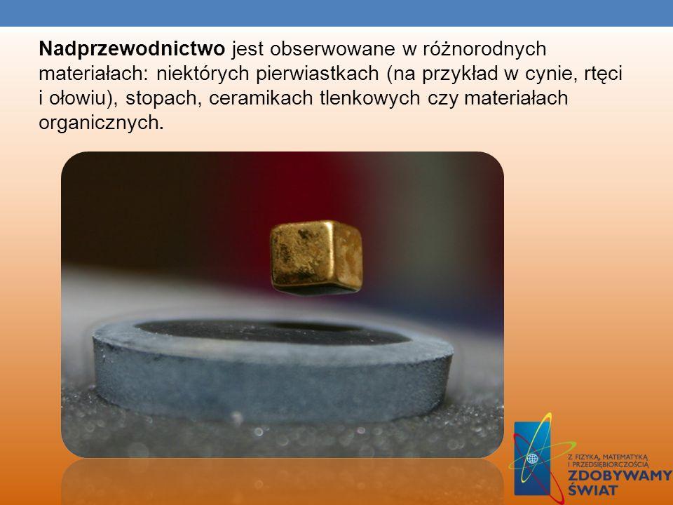 NADPRZEWODNICTWO Nadprzewodnictwo – stan materiału polegający na zerowej rezystancji, jest osiągany w niektórych materiałach w niskiej temperaturze. N