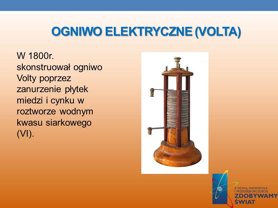 KONDENSATOR Aleksandro w 1782 skonstruował kondensator czyli element elektryczny zbudowany z dwóch przewodników rozdzielonych dielektrykiem. Obecnie p