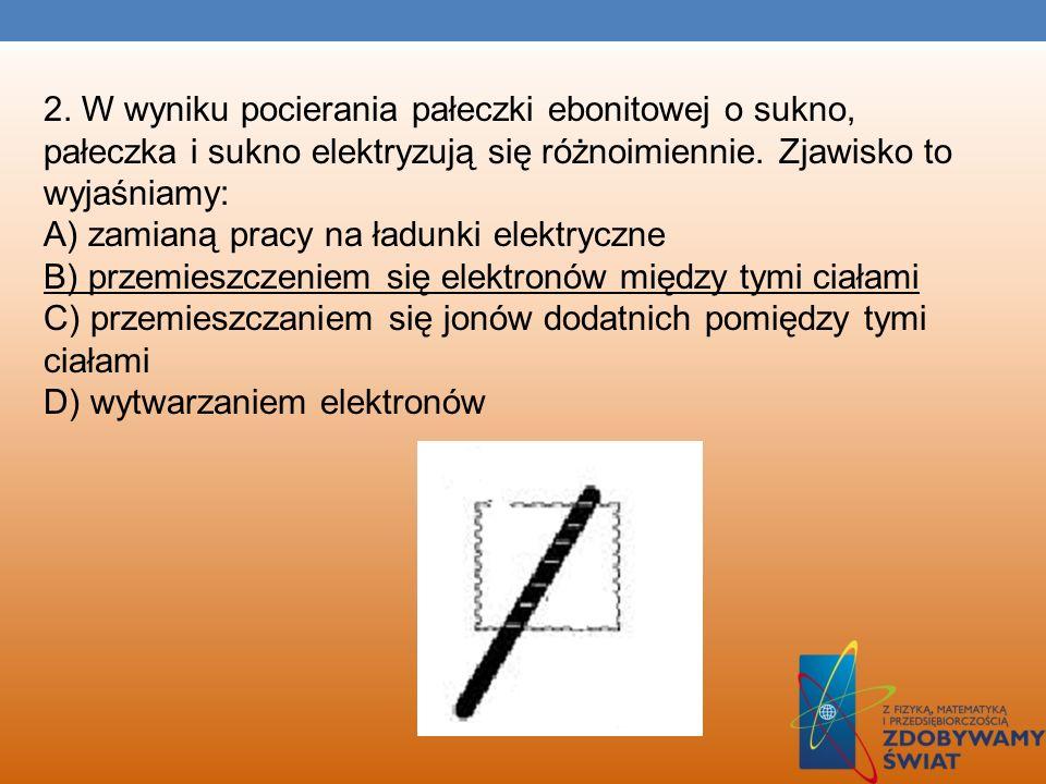 PRZYKŁADY ZADAŃ, KTÓRE ROZWIĄZYWALIŚMY NA ZAJĘCIACH ;) 1.Rysunki przedstawiają trzy sposoby elektryzowania ciał przez: indukcję (1), tarcie (2), zetkn