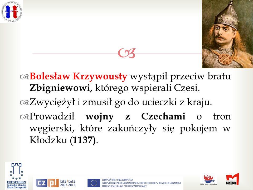 Bolesław Krzywousty wystąpił przeciw bratu Zbigniewowi, którego wspierali Czesi.