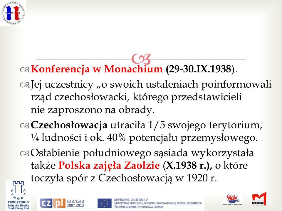 Konferencja w Monachium (29-30.IX.1938 ).