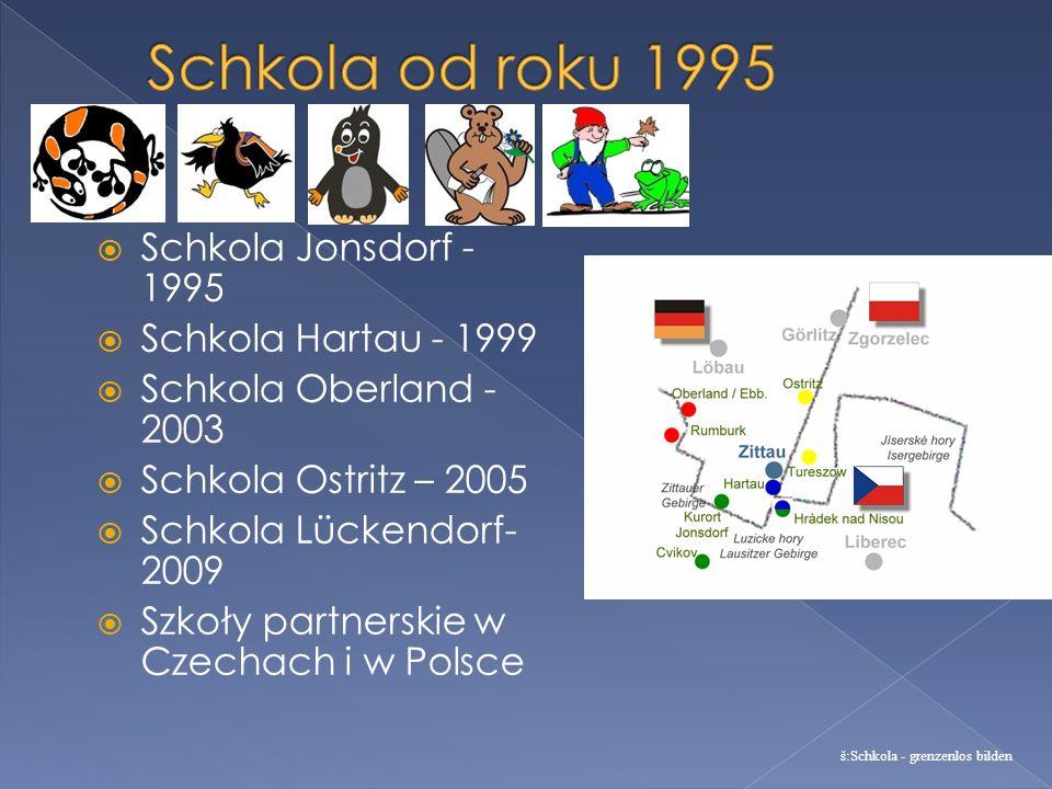 Schkola Jonsdorf - 1995 Schkola Hartau - 1999 Schkola Oberland - 2003 Schkola Ostritz – 2005 Schkola Lückendorf- 2009 Szkoły partnerskie w Czechach i