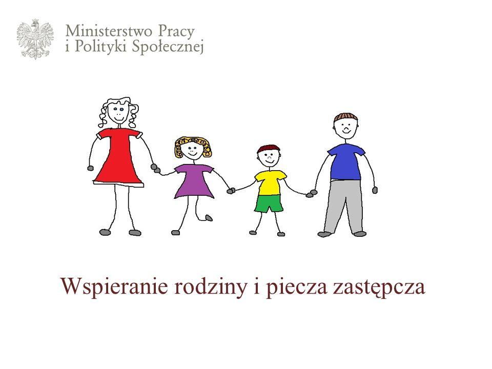 Wspieranie rodzinyRodzinna piecza zastępczaInstytucjonalna piecza zastępczaUsamodzielnianie pełnoletnich wychowankówAdopcje Wspieranie rodziny i piecza zastępcza