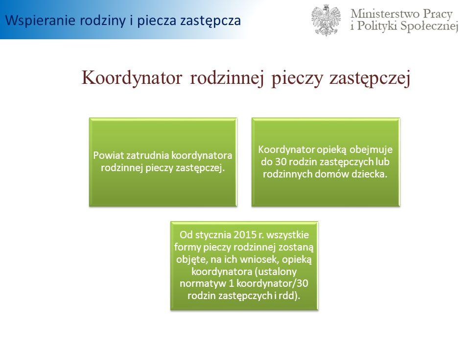 Koordynator rodzinnej pieczy zastępczej Powiat zatrudnia koordynatora rodzinnej pieczy zastępczej.