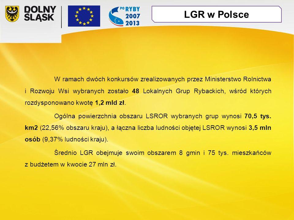 W ramach dwóch konkursów zrealizowanych przez Ministerstwo Rolnictwa i Rozwoju Wsi wybranych zostało 48 Lokalnych Grup Rybackich, wśród których rozdysponowano kwotę 1,2 mld zł.