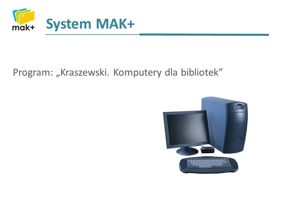 System MAK+ Program: Kraszewski. Komputery dla bibliotek