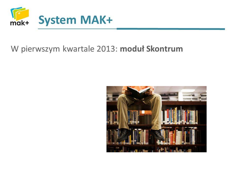 System MAK+ W pierwszym kwartale 2013: moduł Skontrum
