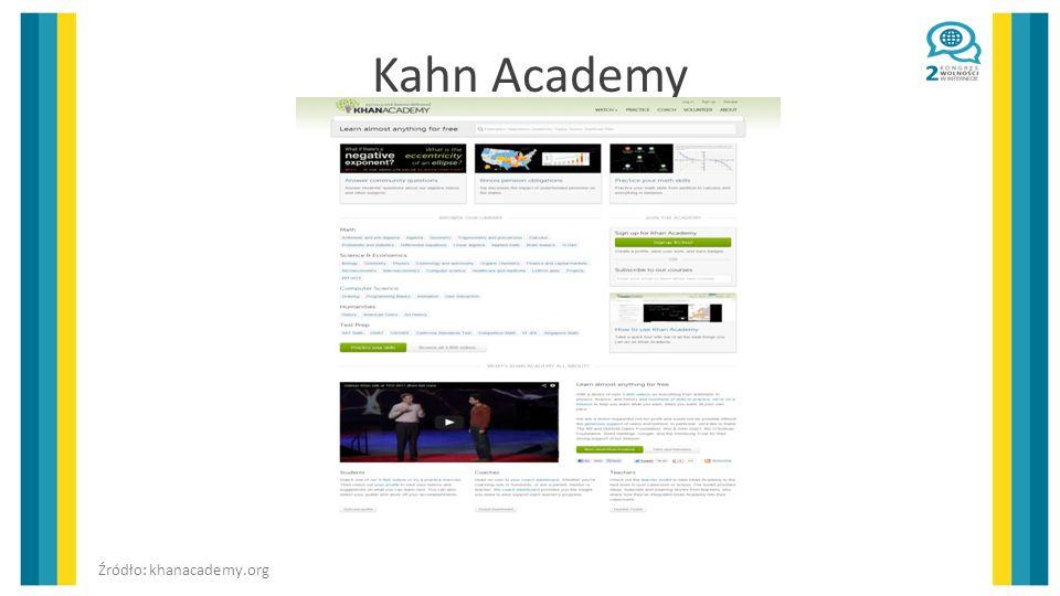 Kahn Academy Źródło: khanacademy.org