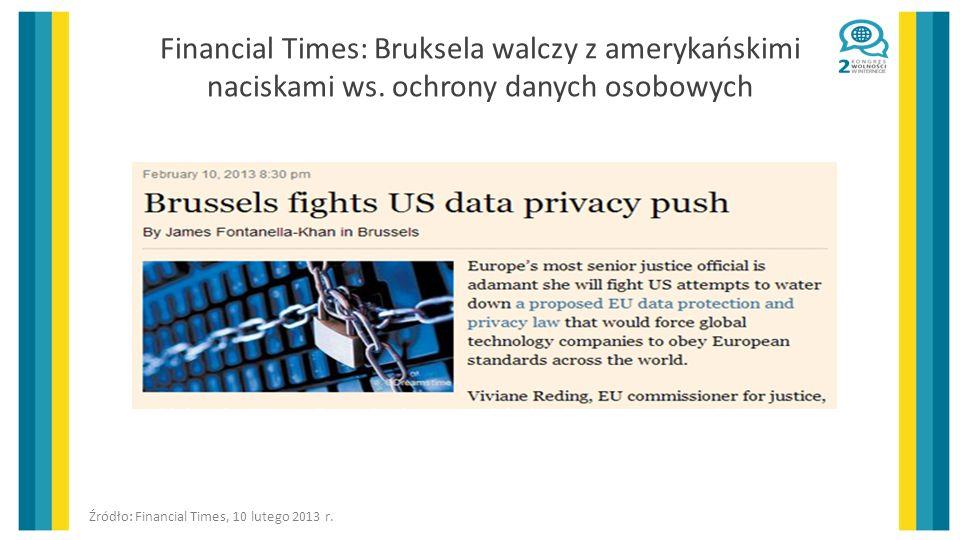 Financial Times: Bruksela walczy z amerykańskimi naciskami ws.
