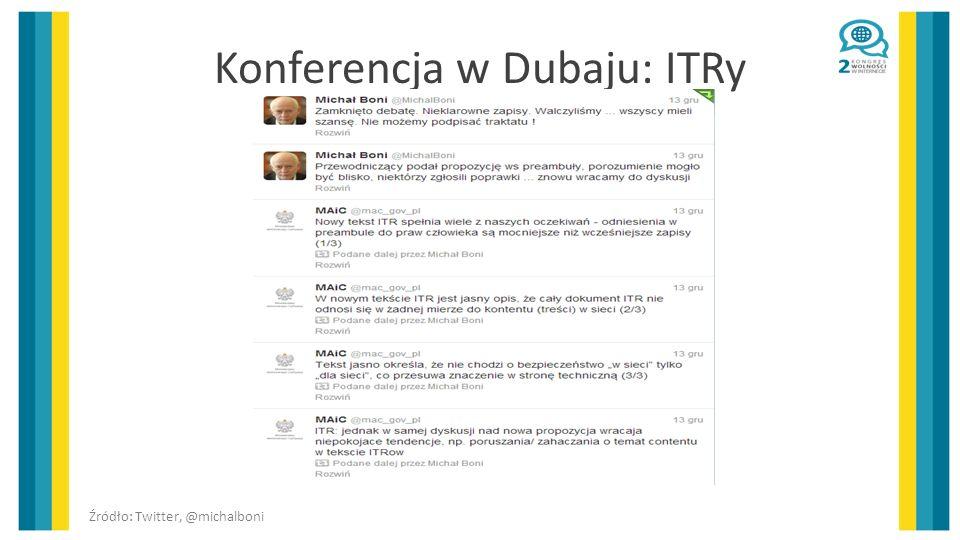 Konferencja w Dubaju: ITRy Źródło: Twitter, @michalboni