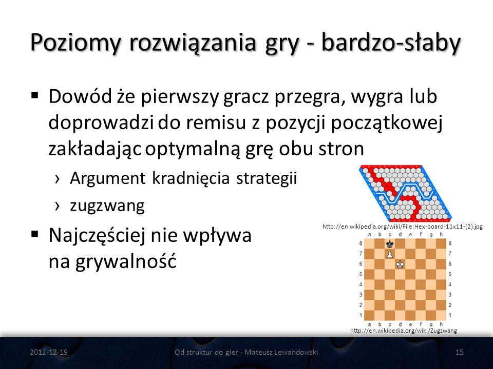 Dowód że pierwszy gracz przegra, wygra lub doprowadzi do remisu z pozycji początkowej zakładając optymalną grę obu stron Argument kradnięcia strategii