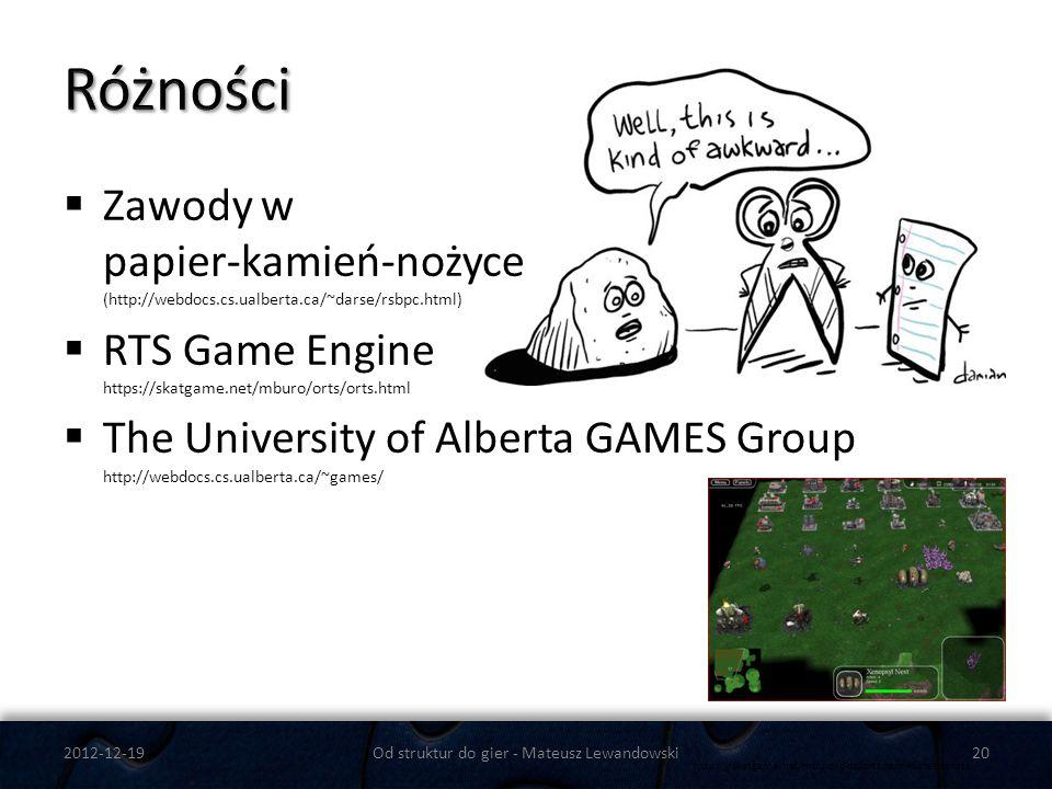 Zawody w papier-kamień-nożyce (http://webdocs.cs.ualberta.ca/~darse/rsbpc.html) RTS Game Engine https://skatgame.net/mburo/orts/orts.html The Universi