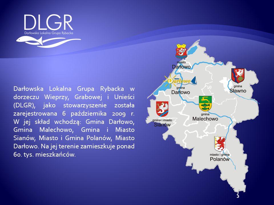 Darłowska Lokalna Grupa Rybacka w dorzeczu Wieprzy, Grabowej i Unieści (DLGR), jako stowarzyszenie została zarejestrowana 6 października 2009 r. W jej