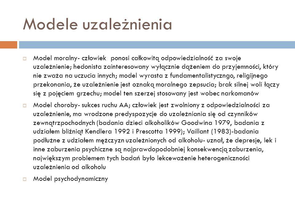 Chorobowa koncepcja uzależnienia sugeruje, że sedno choroby stanowi zaprzeczenie.