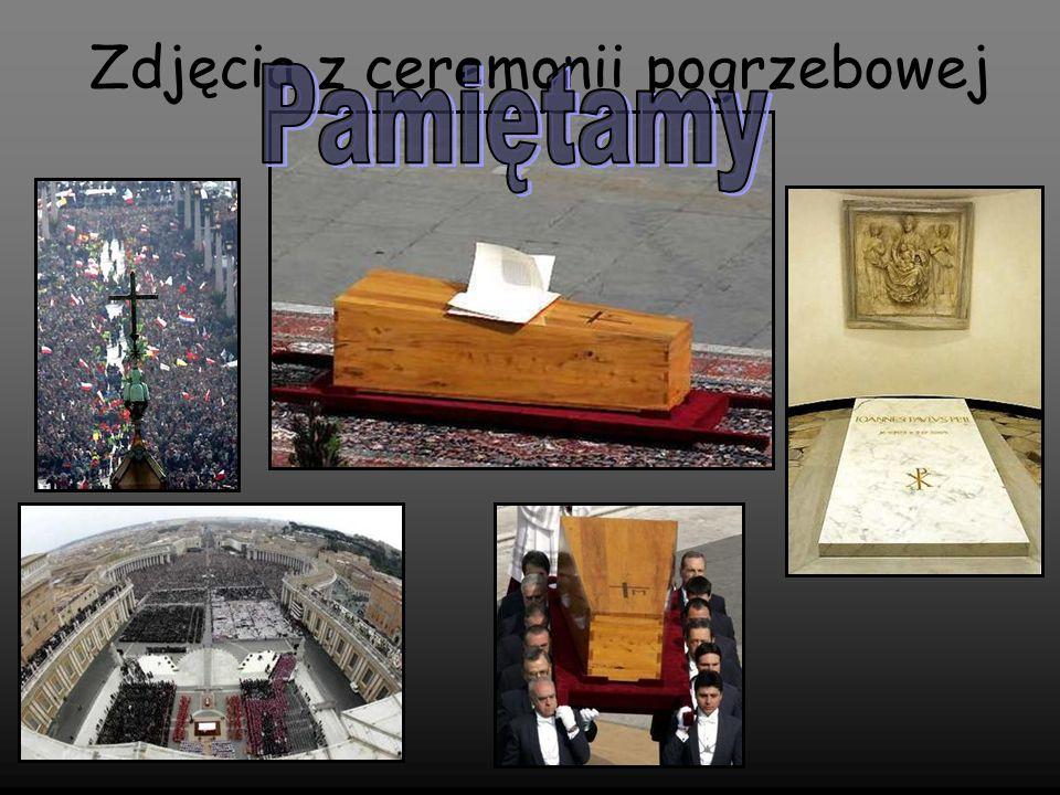 Zdjęcia z ceremonii pogrzebowej