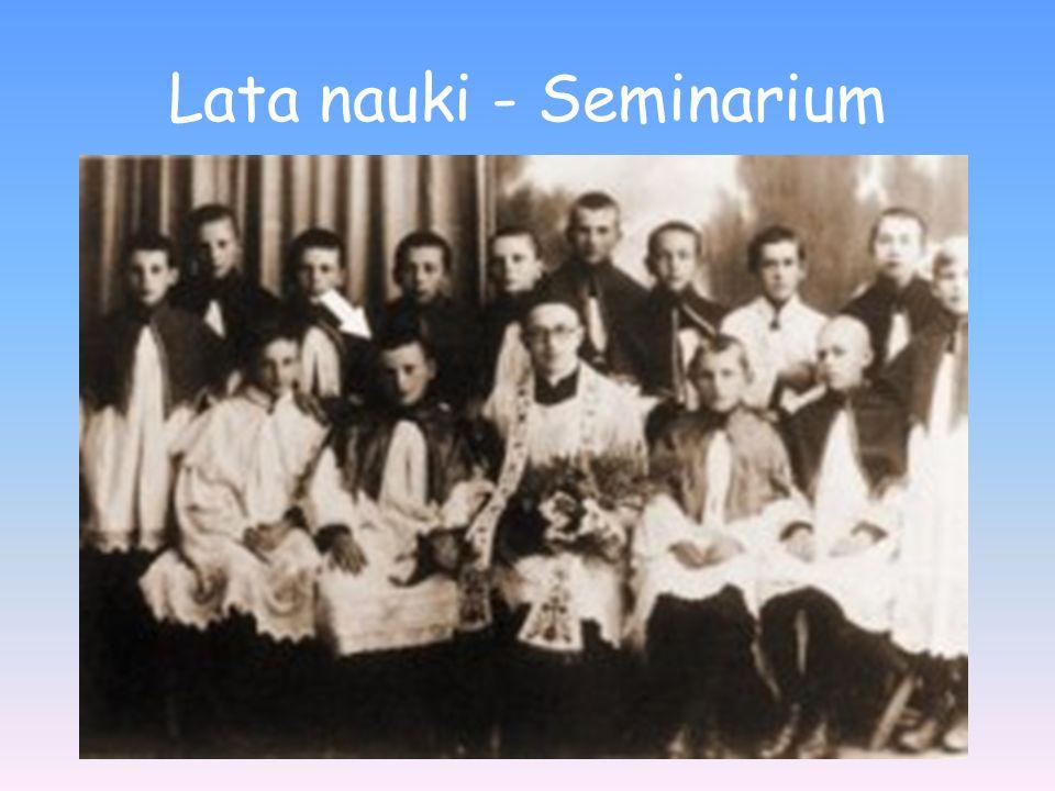 Lata nauki - Seminarium