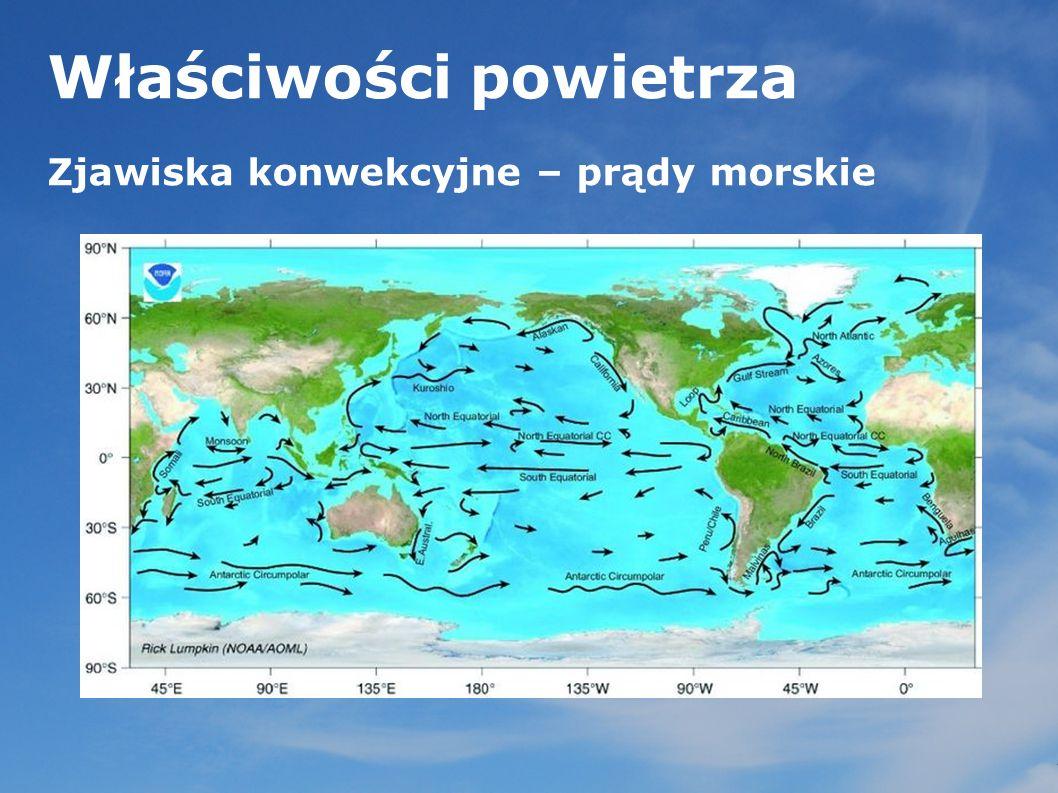 Właściwości powietrza Zjawiska konwekcyjne – prądy morskie