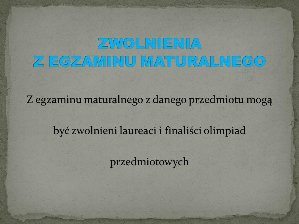 Część pisemna Język polski Matematyka Język obcy nowożytny Wybrany przedmiot dodatkowy