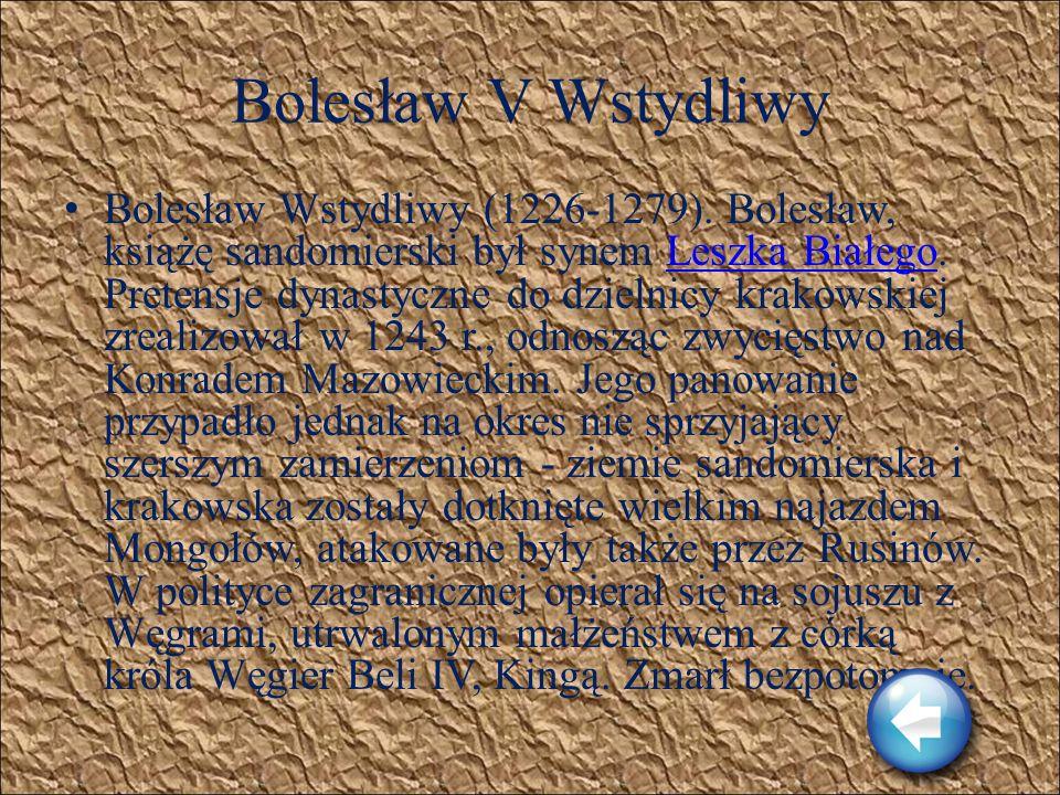 Henryk I Brodaty Henryk Brodaty (1163-1238). Henryk był pierwszym dzierżycielem tronu krakowskiego, który wywodził się z linii Piastów śląskich. Trosz