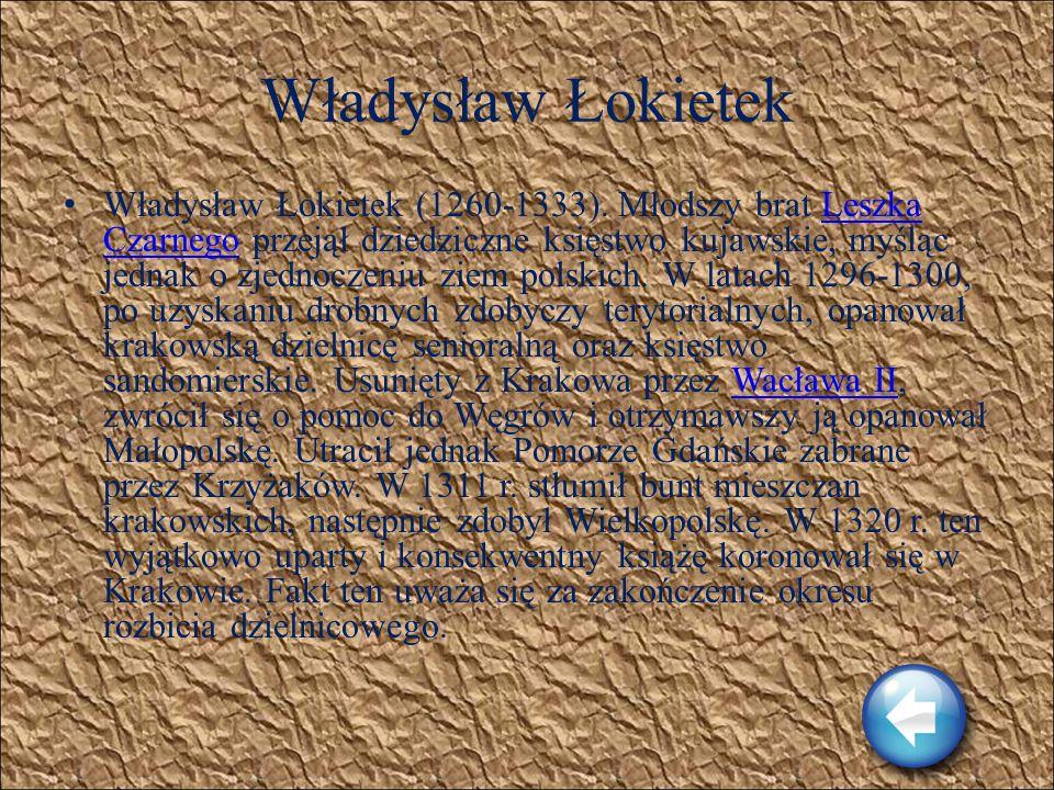 Wacław II Wacław II (1271-1305). Pochodził z czeskiej dynastii Przemyślidów. Był synem króla Przemysława Ottokara II. Będący od 1283 r. królem Czech W