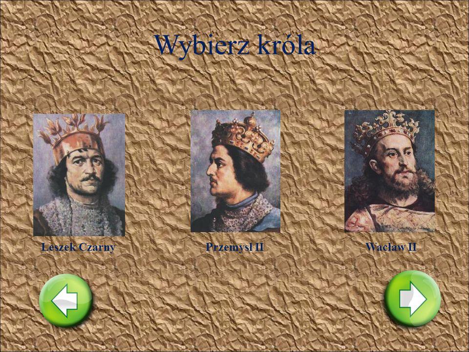 Wybierz króla Leszek BiałyHenryk I BrodatyBolesław V Wstydliwy