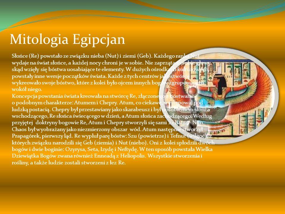 Mitologia Mezopotamii W jednym z najstarszych mitów kosmogenicznych stworzycielką życia jest bogini Nammu (pierwotne wody), która przez partenogenezę zrodziła pierwszą parę bogów: Niebo (An) i Ziemię (Ki).