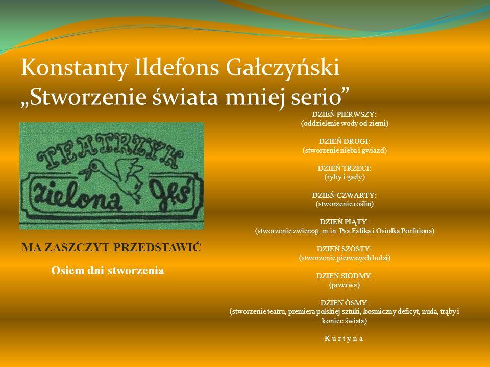 Krzysztof Kamil Baczyński Przypowieść Pan Bóg uśmiechnął się i wtedy powstała ziemia, podobna do jabłka złotego i do zwierciadła przemian. Po niej pow