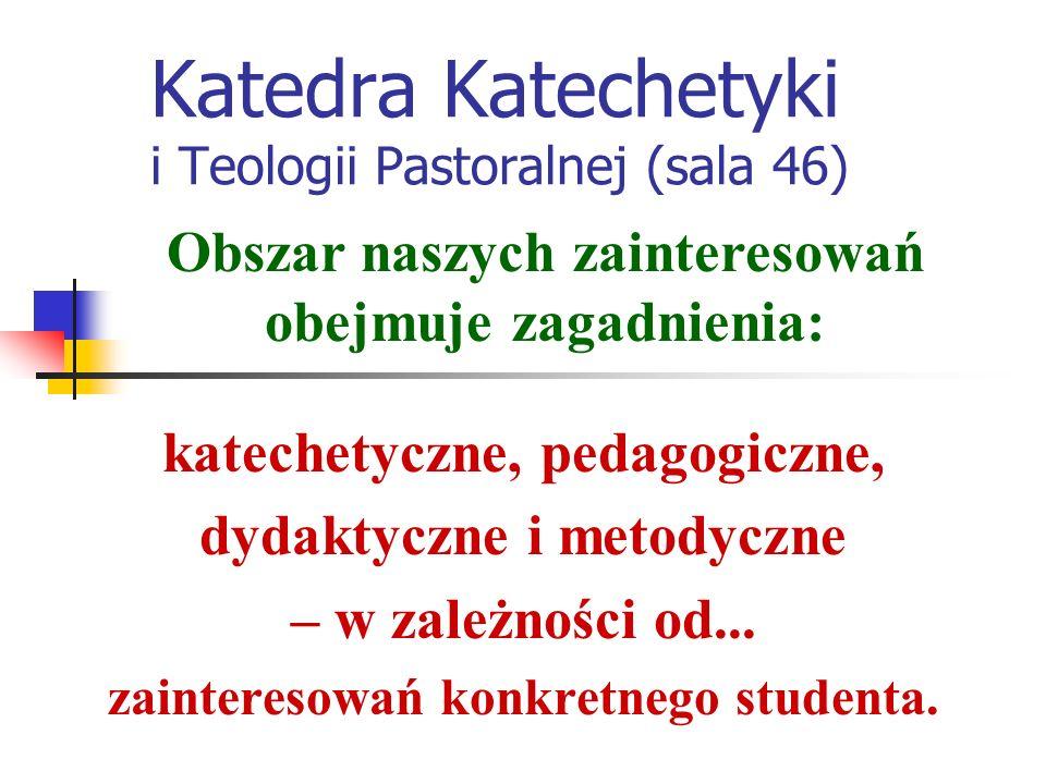 Katedra Katechetyki i Teologii Pastoralnej (sala 46) Co było.