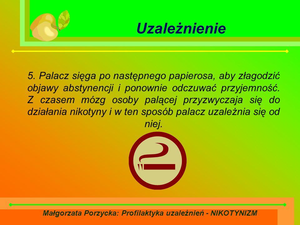 Małgorzata Porzycka: Profilaktyka uzależnień - NIKOTYNIZM Uzależnienie 5.