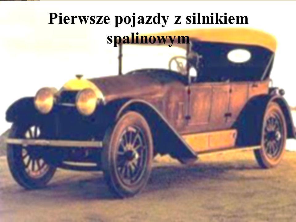 Pierwsze pojazdy z silnikiem spalinowym