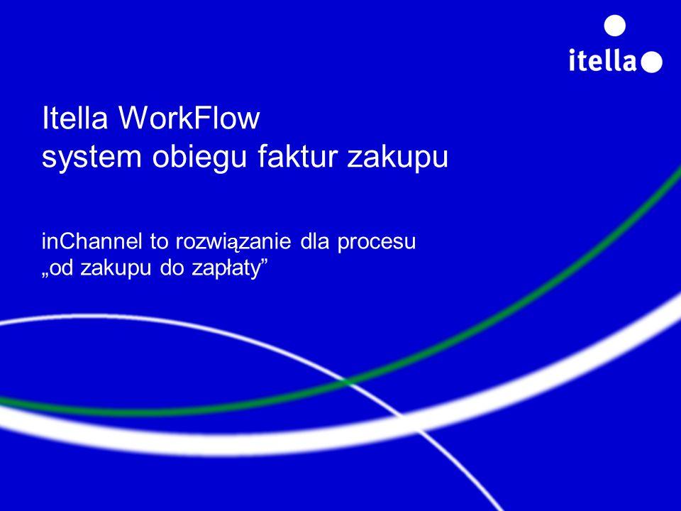 Itella WorkFlow system obiegu faktur zakupu inChannel to rozwi ą zanie dla procesu od zakupu do zapłaty