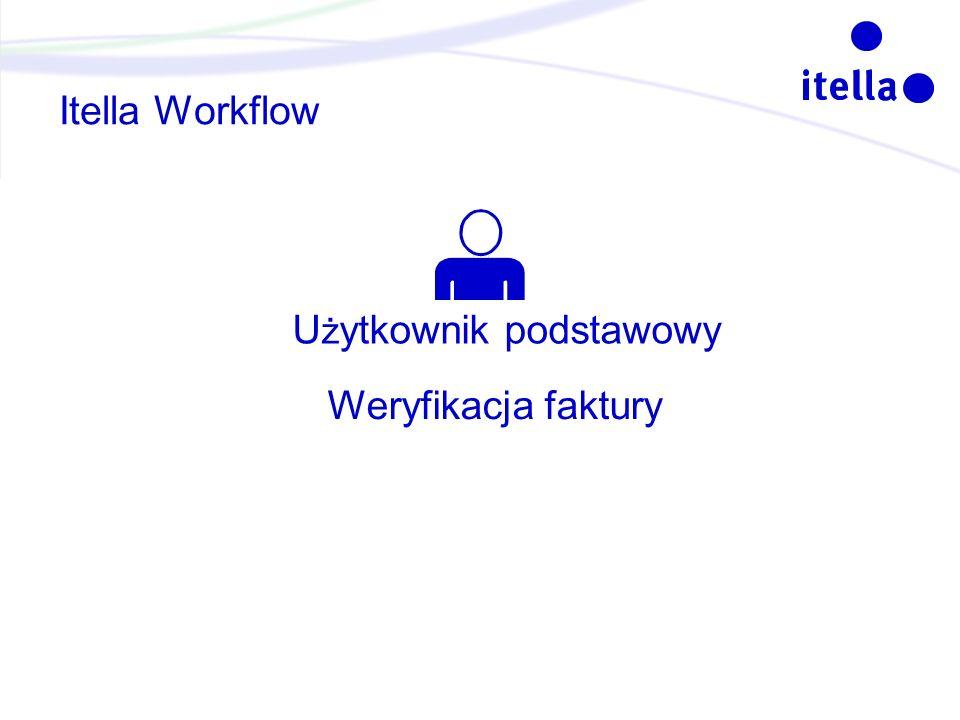 Itella Workflow U ż ytkownik podstawowy Weryfikacja faktury
