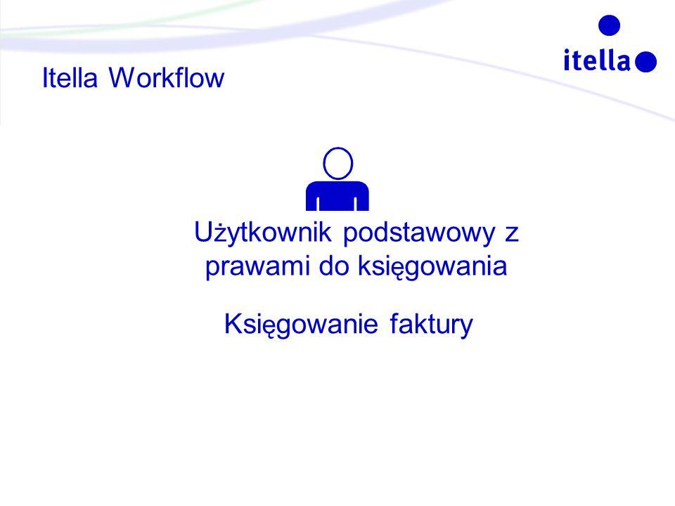 Itella Workflow U ż ytkownik podstawowy z prawami do ksi ę gowania Ksi ę gowanie faktury