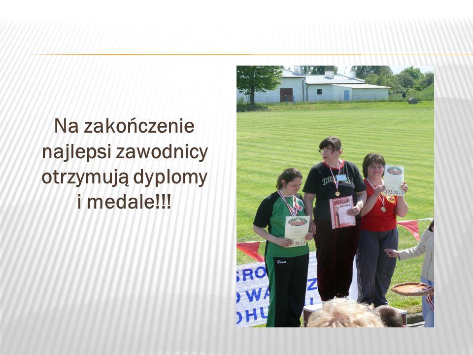 Na zakończenie najlepsi zawodnicy otrzymują dyplomy i medale!!!