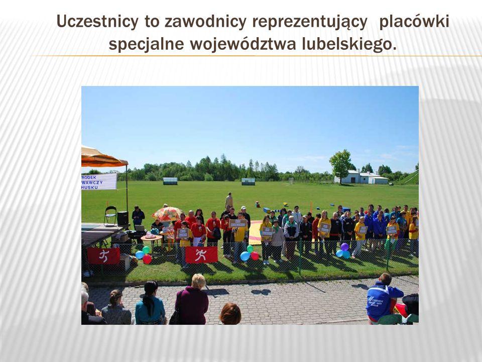 Uczestnicy to zawodnicy reprezentujący placówki specjalne województwa lubelskiego.